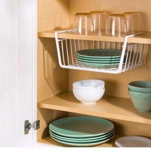 Home Basics White Small Under Shelf Basket